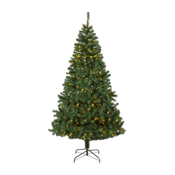7.5 Northern Tip Pine Artificial Christmas Tree with 400 Clear LED Lights - SKU #T1719