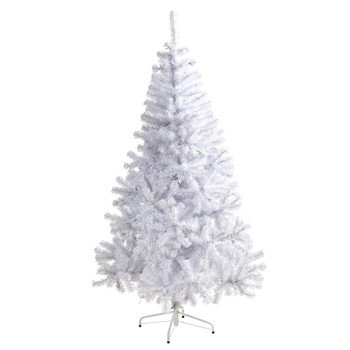 6 White Artificial Christmas Tree with 680 Bendable Branches - SKU #T1722