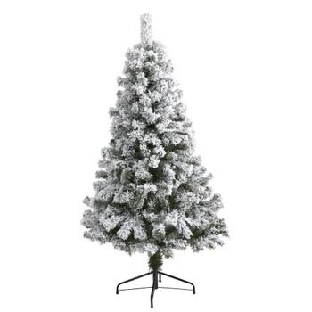 5 Flocked West Virginia Fir Artificial Christmas Tree - SKU #T1733