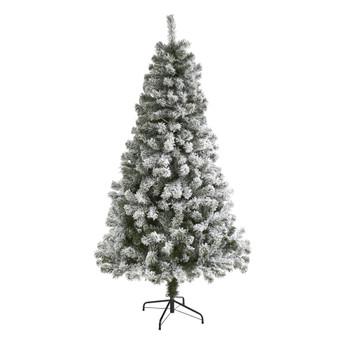 6 Flocked West Virginia Fir Artificial Christmas Tree - SKU #T1734