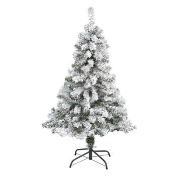 4 Flocked Rock Springs Spruce Artificial Christmas Tree - SKU #T1744