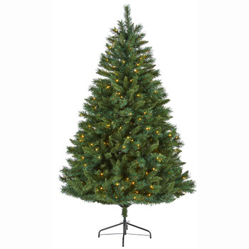6 Rocky Mountain Mixed Pine Artificial Christmas Tree with 300 LED Lights - SKU #T1778