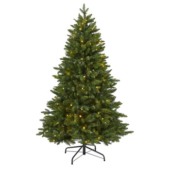 5 New Hampshire Fir Artificial Christmas Tree with 150 LED Lights - SKU #T1779