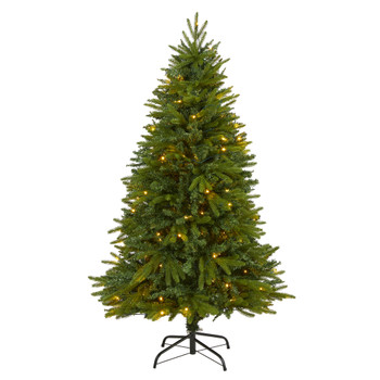 5 Sun Valley Fir Artificial Christmas Tree with 200 Clear LED Lights - SKU #T1784