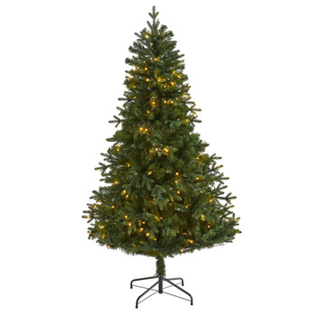 6 Vermont Fir Artificial Christmas Tree with 250 Clear LED Lights - SKU #T1789