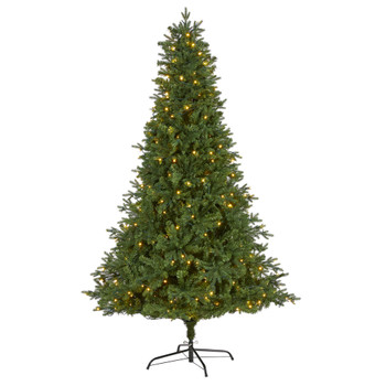 7 Vermont Fir Artificial Christmas Tree with 350 Clear LED Lights - SKU #T1790