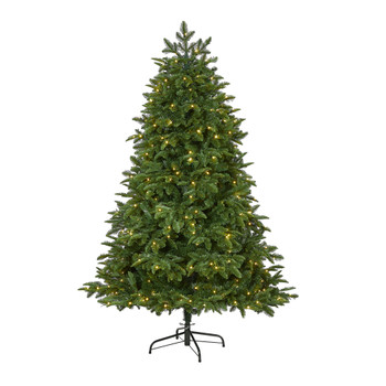 6 Wyoming Fir Artificial Christmas Tree with 350 Clear LED Lights and 844 Bendable Branches - SKU #T1803
