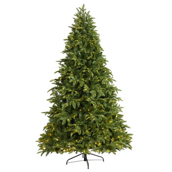 7.5 Wyoming Fir Artificial Christmas Tree with 500 Clear LED Lights and 1580 Bendable Branches - SKU #T1804