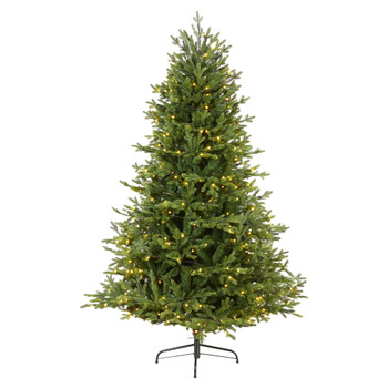 6 Wyoming Spruce Artificial Christmas Tree with 400 Clear LED Lights and 1045 Bendable Branches - SKU #T1806