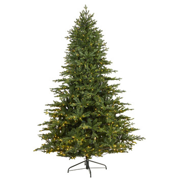 7.5 Wyoming Spruce Artificial Christmas Tree with 650 Clear LED Lights and 1701 Bendable Branches - SKU #T1807