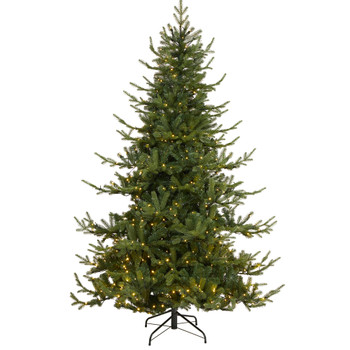 7 Swedish Fir Artificial Christmas Tree with 500 Warm White LED Lights and 1291 Bendable Branches - SKU #T1810