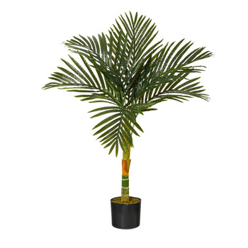3 Golden Cane Artificial Palm Tree - SKU #T1836