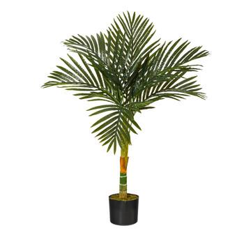 3 Golden Cane Artificial Palm Tree - SKU #T1836