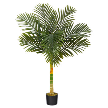 4 Golden Cane Artificial Palm Tree - SKU #T1837
