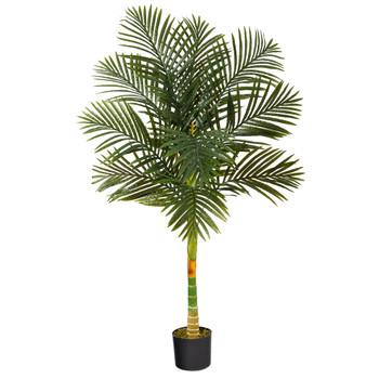 5 Golden Cane Artificial Palm Tree - SKU #T1838