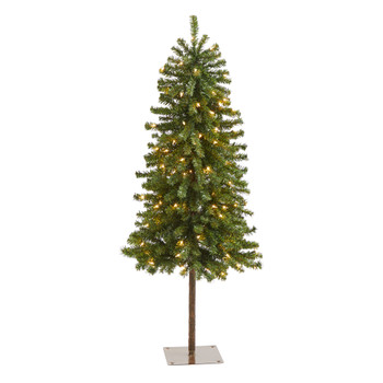 4 Alpine Artificial Christmas Tree with 100 Lights and 260 Bendable Branches - SKU #T1843