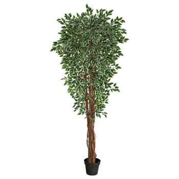 70 Variegated Ficus Artificial Tree UV Resistant Indoor/Outdoor - SKU #T1860