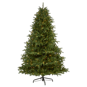 7 South Carolina Spruce Artificial Christmas Tree with 500 White Warm Lights and 2644 Bendable Branches - SKU #T1881