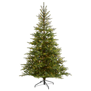 7 North Carolina Spruce Artificial Christmas Tree with 450 Clear Lights and 931 Bendable Branches - SKU #T1887