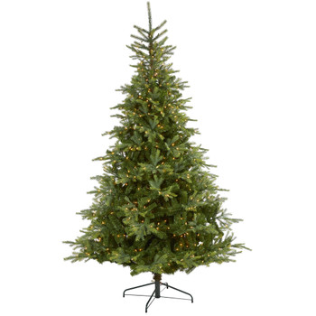 8 North Carolina Spruce Artificial Christmas Tree with 650 Clear Lights and 1303 Bendable Branches - SKU #T1888