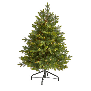 4 North Carolina Fir Artificial Christmas Tree with 250 Clear Lights and 1003 Bendable Branches - SKU #T1890