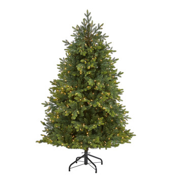 6 North Carolina Fir Artificial Christmas Tree with 450 Clear Lights and 2303 Bendable Branches - SKU #T1891