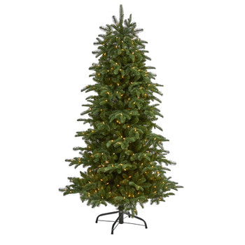 6 South Carolina Fir Artificial Christmas Tree with 450 Clear Lights and 1598 Bendable Branches - SKU #T1893