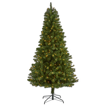 7.5 Virginia Fir Artificial Christmas Tree with 450 Clear Lights and 979 Bendable Branches - SKU #T1897