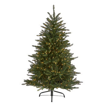 5 Napa Valley Fir Artificial Chrstmas Tree with 350 Clear Lights and 1107 Bendable Branches - SKU #T1910