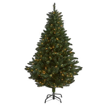 6 Northern Rocky Spruce Artificial Christmas Tree with 300 Clear Lights and 838 Bendable Branches - SKU #T1914