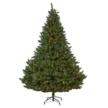 8 Northern Rocky Spruce Artificial Christmas Tree with 500 Clear Lights and 1948 Bendable Branches - SKU #T1916
