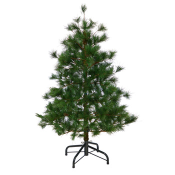 4 Yukon Mixed Pine Artificial Christmas Tree with 366 Bendable Branches - SKU #T1932