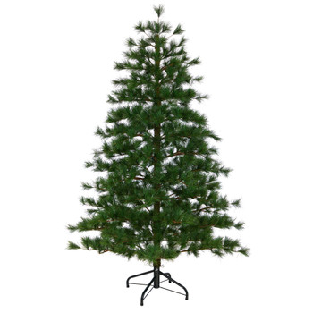 6 Yukon Mixed Pine Artificial Christmas Tree with 864 Bendable Branches - SKU #T1933