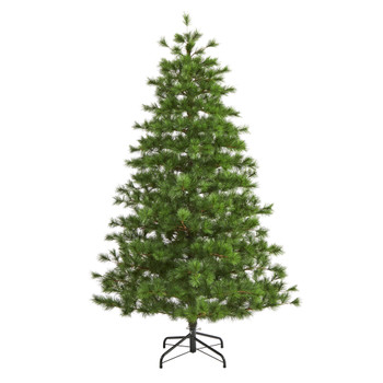7 Yukon Mixed Pine Artificial Christmas Tree with 1104 Bendable Branches - SKU #T1934