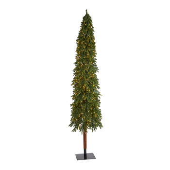 9 Grand Alpine Artificial Christmas Tree with 600 Clear Lights and 1183 Branches on Natural Trunk - SKU #T1949