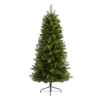 6 Slim West Virginia Mountain Pine Artificial Christmas Tree with 629 Bendable Branches - SKU #T2013