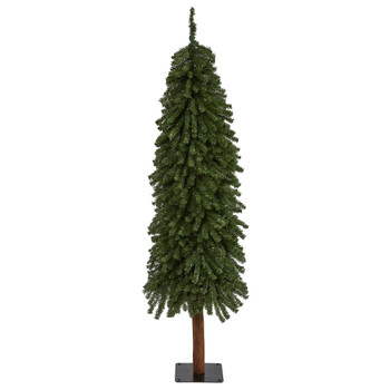 5 Grand Alpine Artificial Christmas Tree with 469 Bendable Branches on Natural Trunk - SKU #T2014
