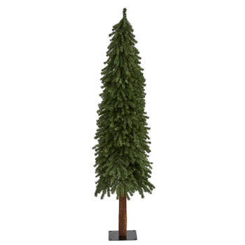 6 Grand Alpine Artificial Christmas Tree with 601 Bendable Branches on Natural Trunk - SKU #T2015