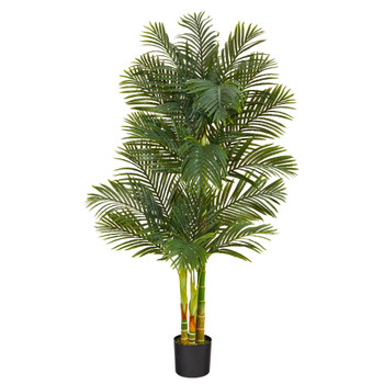 6 Golden Cane Artificial Palm Tree - SKU #T2019