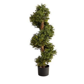 33 Boxwood Topiary Spiral Artificial Tree Indoor/Outdoor - SKU #T2027