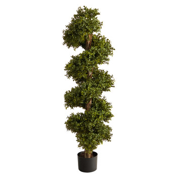 46 Boxwood Spiral Topiary Artificial Tree - SKU #T2028