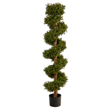 5 Boxwood Spiral Topiary Artificial Tree Indoor/Outdoor - SKU #T2029