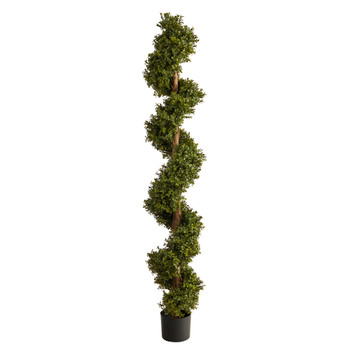 6 Boxwood Spiral Topiary Artificial Tree - SKU #T2030