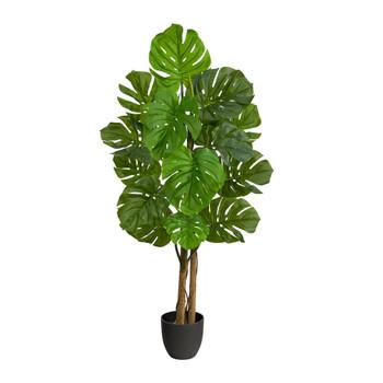 4 Monstera Artificial Tree UV Resistant Indoor/Outdoor - SKU #T2037