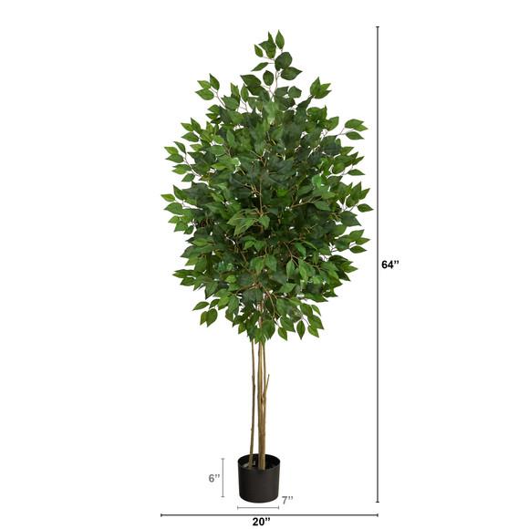 64 Ficus Artificial Tree UV Resistant Indoor/Outdoor - SKU #T2038 - 1