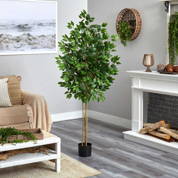 64 Ficus Artificial Tree UV Resistant Indoor/Outdoor - SKU #T2038 - 3