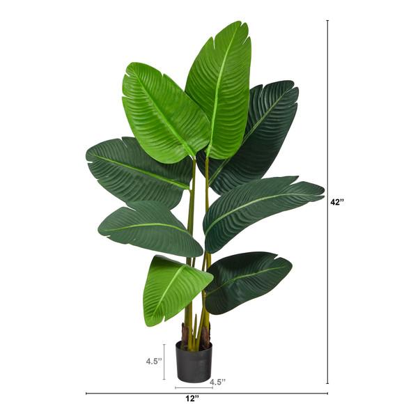 3.5 Travelers Palm Artificial Tree - SKU #T2108 - 1