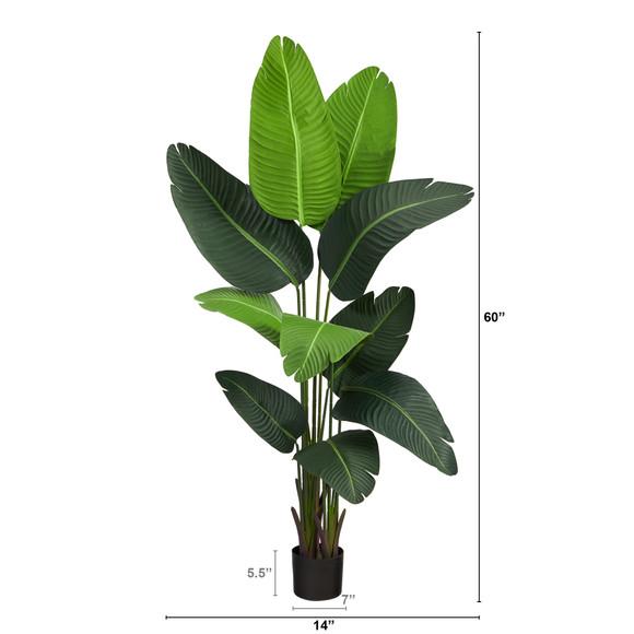 5 Travelers Palm Artificial Tree - SKU #T2109 - 1