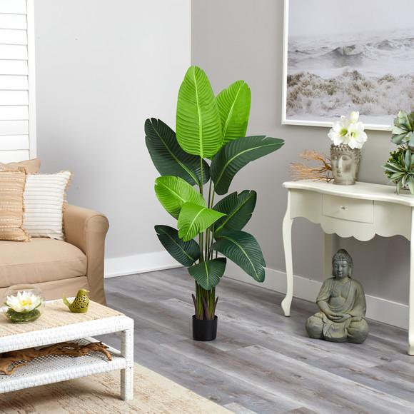 5 Travelers Palm Artificial Tree - SKU #T2109 - 3