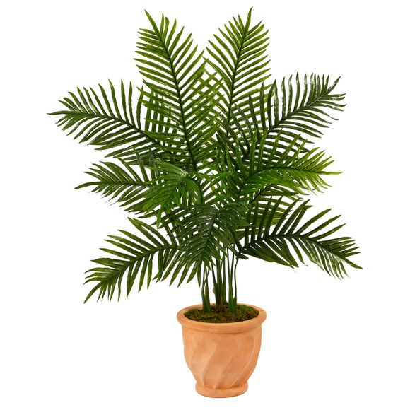 45 Areca Palm Artificial Tree in in Terra-Cotta Planter Real Touch - SKU #T2155